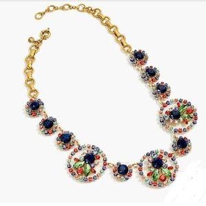 J. Crew Multi Color Crystal Statement Necklace
